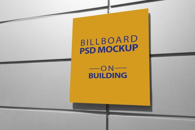 Billboard Mockup on Building - 5 PSD Templates example image 1
