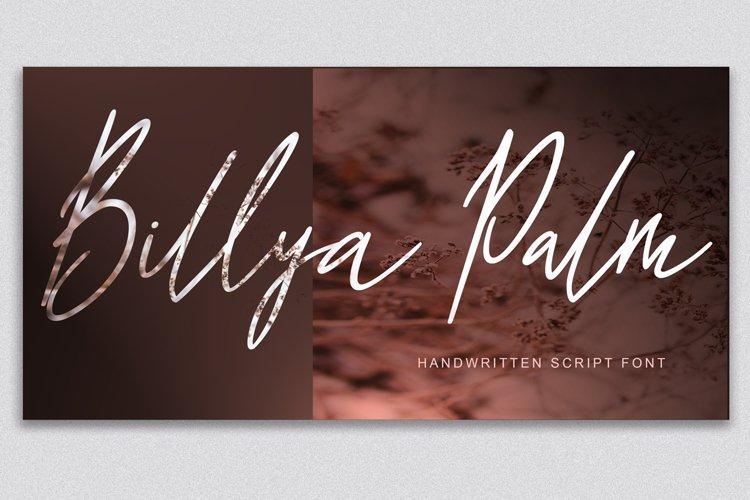 Billya Palm Script example image 1