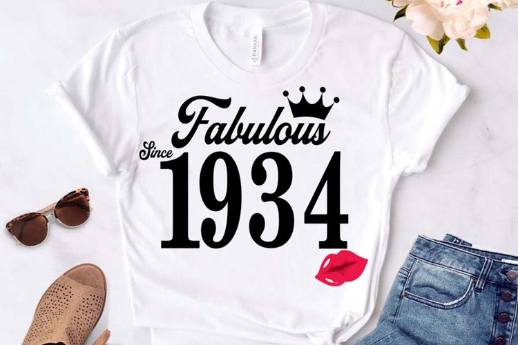 Fabulous since 1934 birthday Svg, 87 Birthday svg, 87 Birthd example image 1