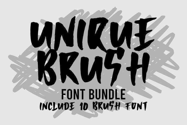 UNIQUE BRUSH FONT BUNDLE example image 1