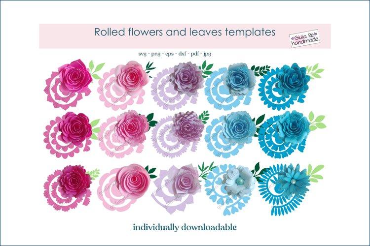 Rolled flower svg file for Cricut