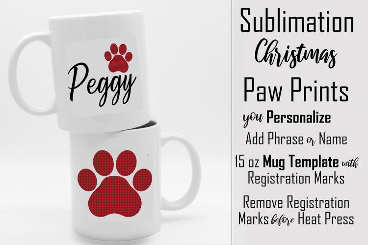 Sublimation - Christmas Paws - three 15 oz. Mug Templates example image 1