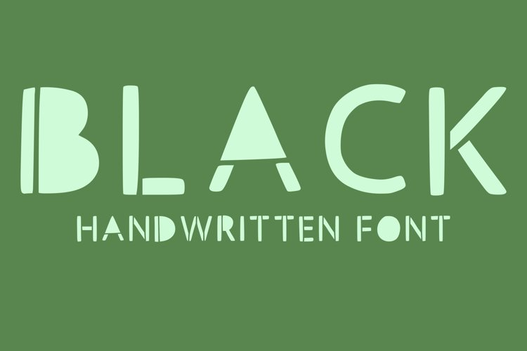 handwritten fonts with bold letters