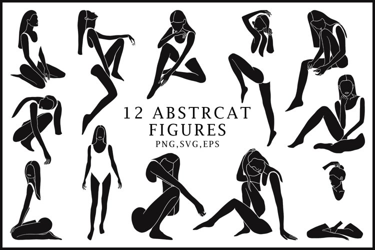 Abstract feminine collection clipart example image 1
