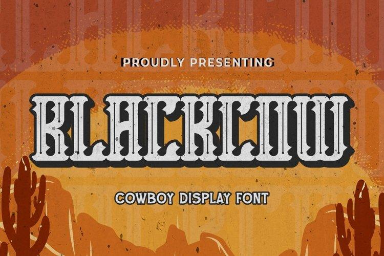 Web Font Blackcow - Blackletter Font example image 1