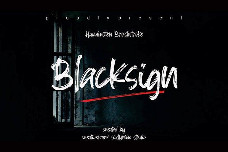 Blacksign example image 1