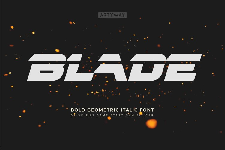 Headline Blade Font example image 1