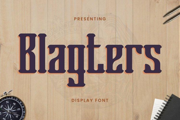 Web Font Blagters - Display Font