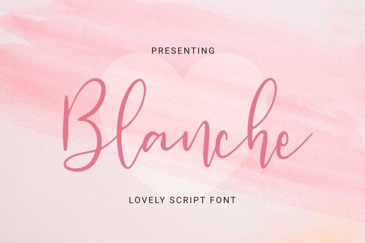 Web Font Blanche