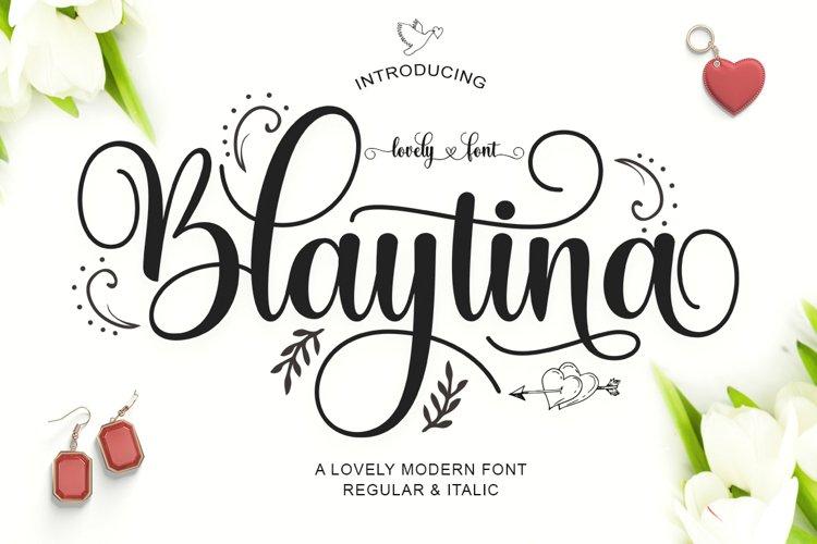 Blaytina Lovely Font example image 1