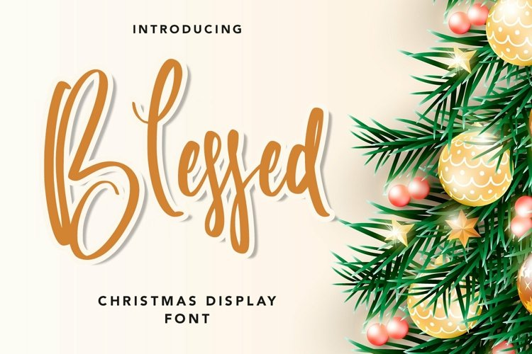 Web Font Blessed - Christmas Display Font example image 1