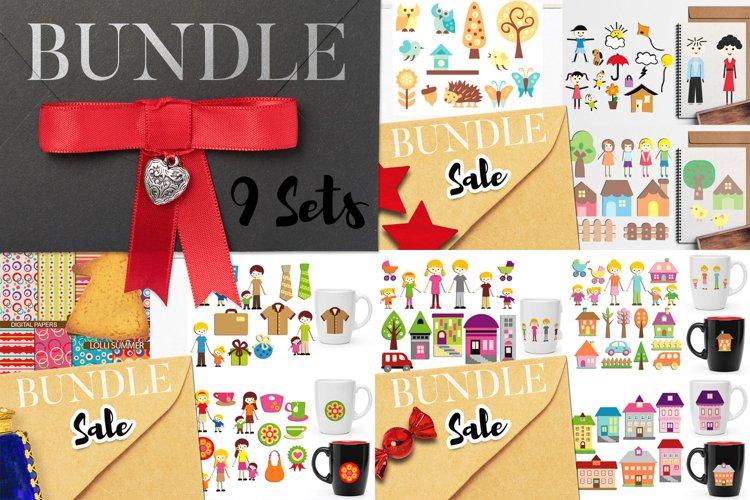 Family IllustrationsBig Bundle - Parents and Kids Clipart