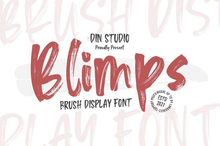 Blipms-Brush Font example image 1