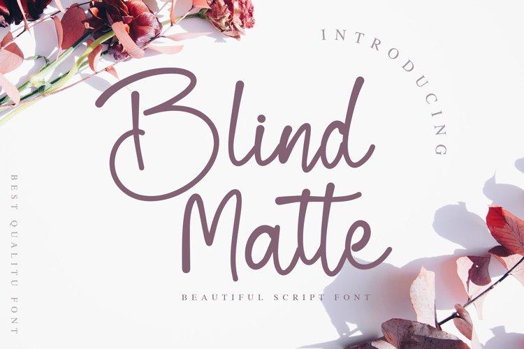 Blind Matte - Script Font example image 1