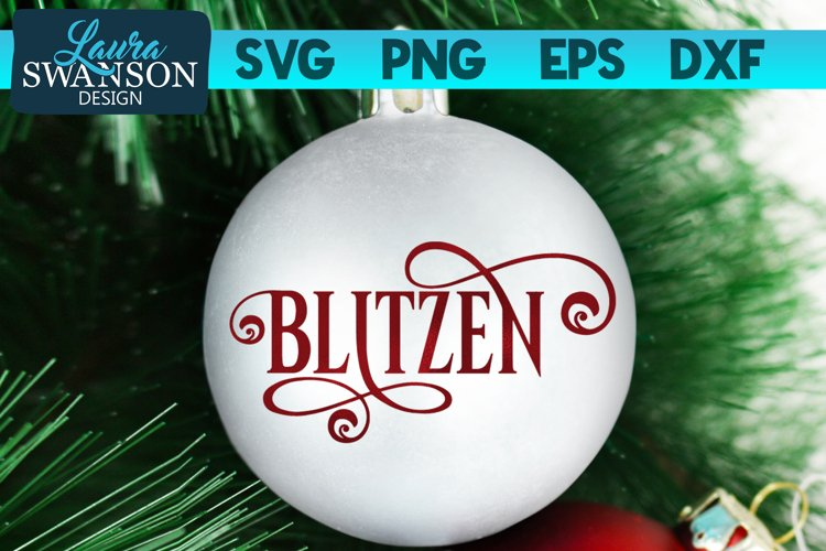 Reindeer Blitzen SVG Cut File | Christmas Ornament SVG example image 1