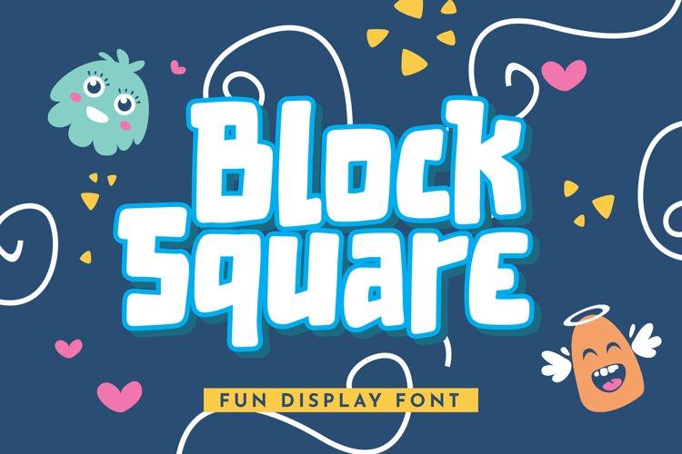 Block Square - Fun Display Font