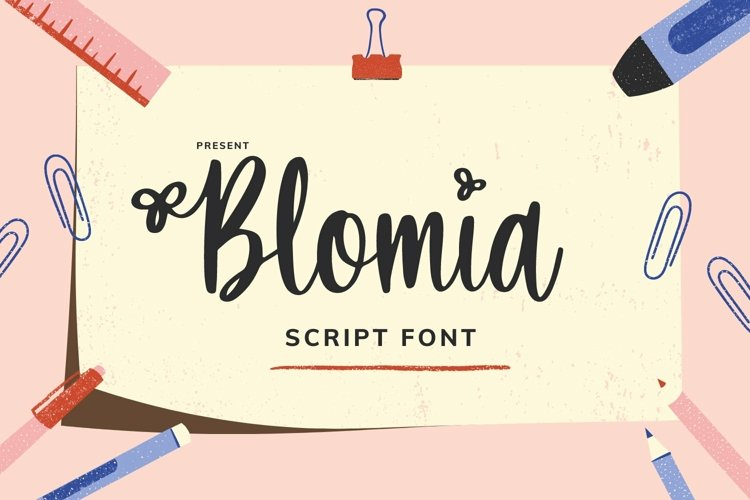 Web Font Bloemia Font example image 1