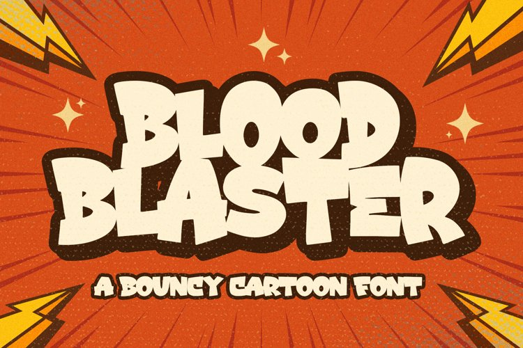 Blood Blaster a Bouncy Cartoon Font example image 1