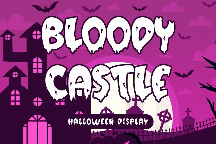 Web Font Bloody Castle - Halloween Display Font example image 1