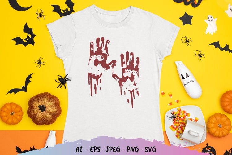 Bloody Hand SVG File