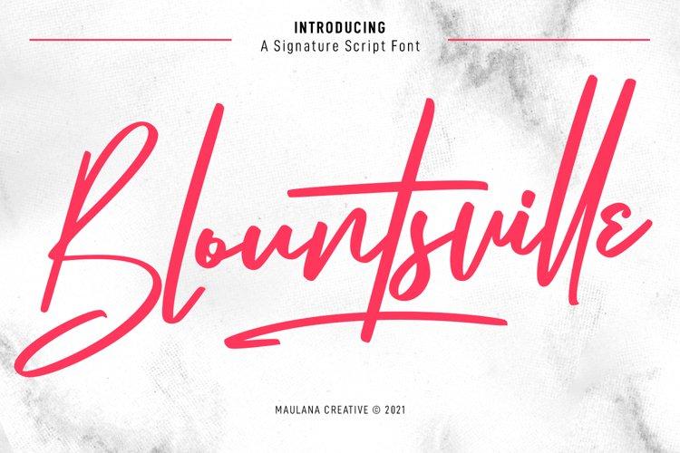 Blountsville Signature Script Font example image 1