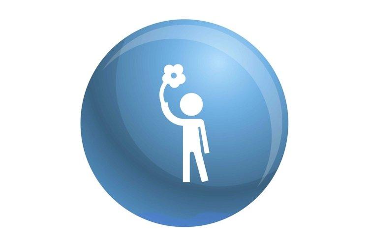 Handicap man icon, simple style example image 1