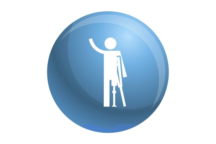 Man prosthesis hand icon, simple style example image 1