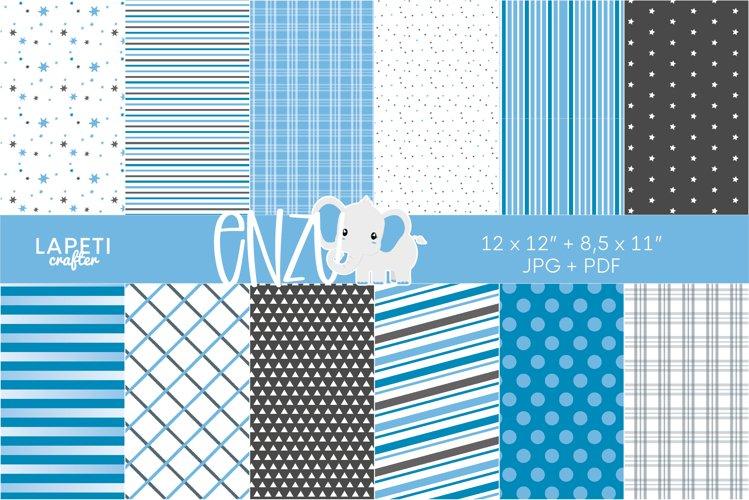 Baby blue digital papers   Basic pattern digital background