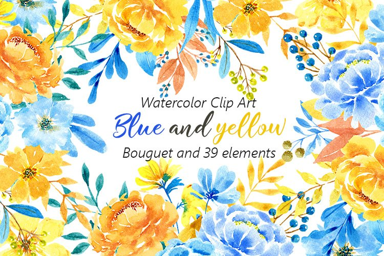 Watercolor Flowers Pictures Peonies Floral Clipart Bright