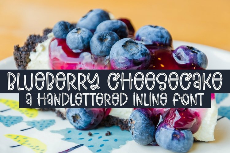Web Font Blueberry Cheesecake - A Handlettered Inline Font example image 1