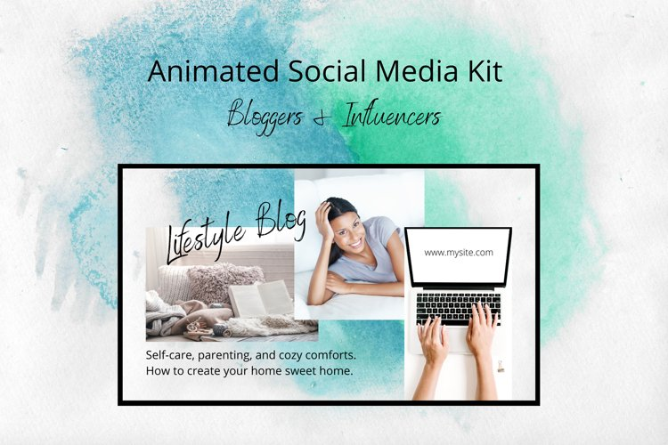 Animated Social Media Kit Canva Templates for Bloggers example image 1