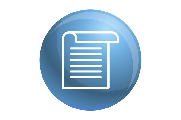 Office paper icon, outline style example image 1
