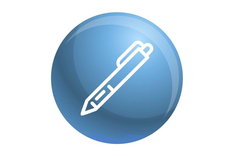 Pen icon, outline style example image 1