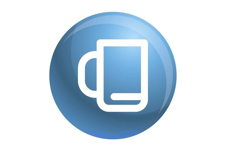 Office cup icon, outline style example image 1