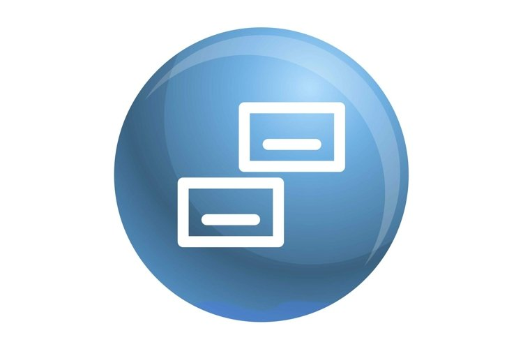 Visit card icon, outline style example image 1