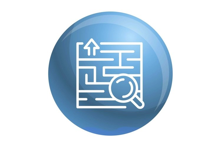 Find solution icon, outline style example image 1