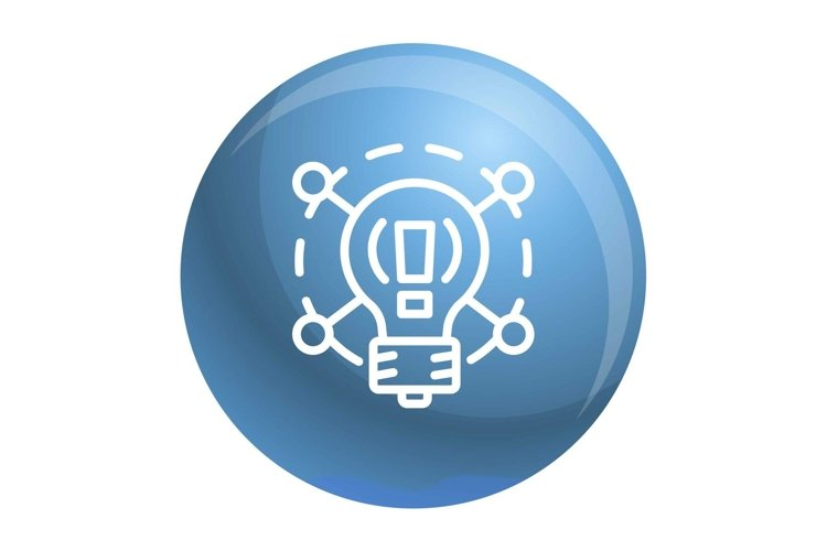 Creative idea bulb icon, outline style example image 1