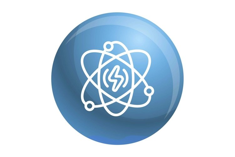 Energy atom icon, outline style example image 1