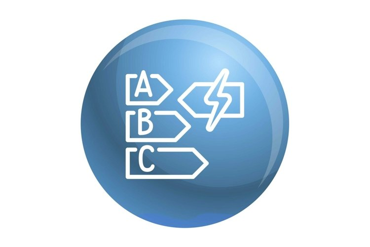 Energy class icon, outline style example image 1