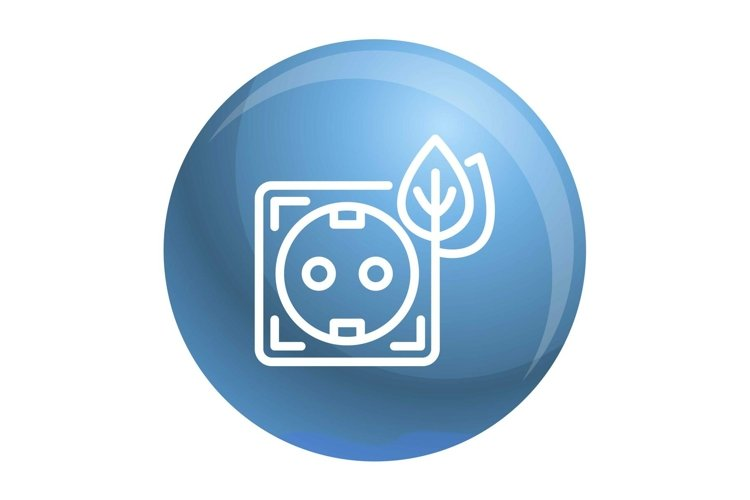 Eco energy socket icon, outline style example image 1
