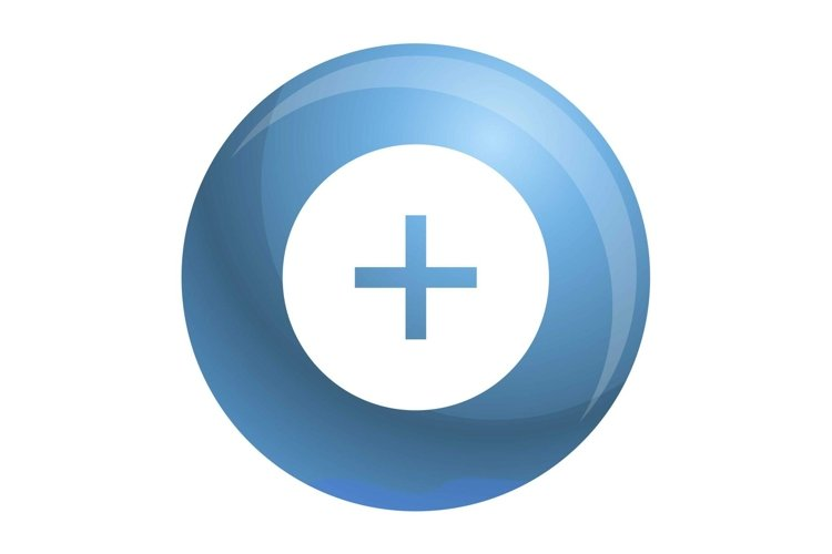 Circle plus icon, simple style example image 1