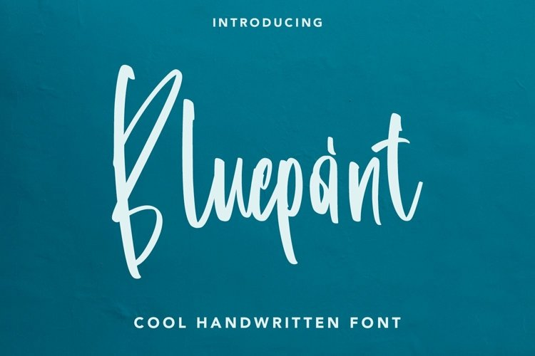 Web Font Bluepoint - Handwritten Font example image 1