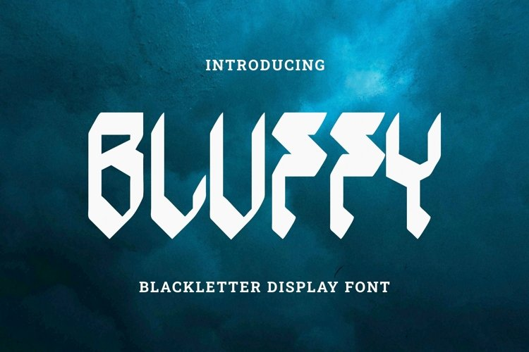 Web Font Bluffy Font example image 1