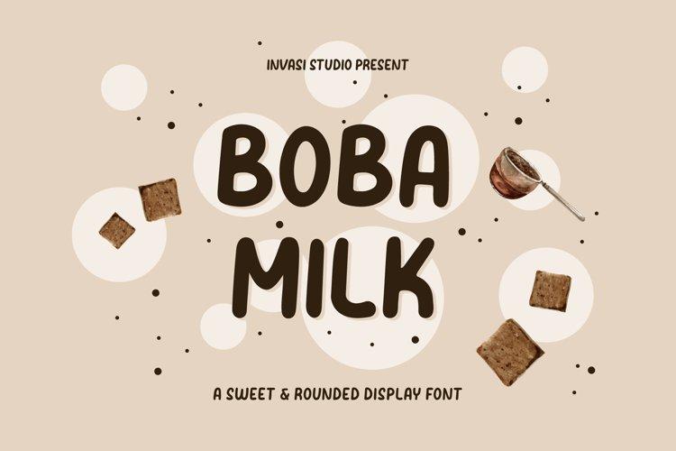 Boba Milk - Sweet & Rounded example image 1