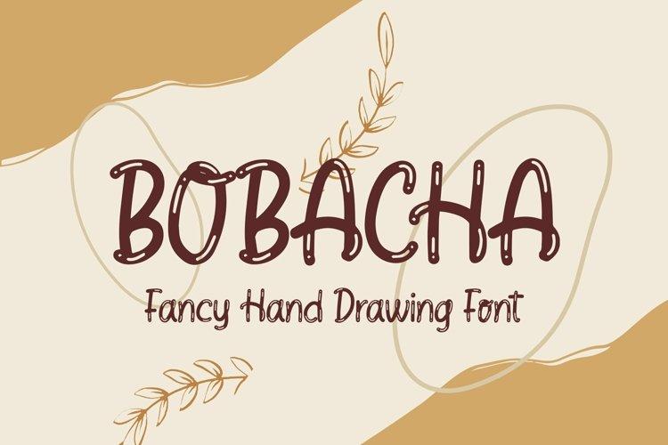 Web Font Bobacha - Fancy Hand Drawing Font example image 1