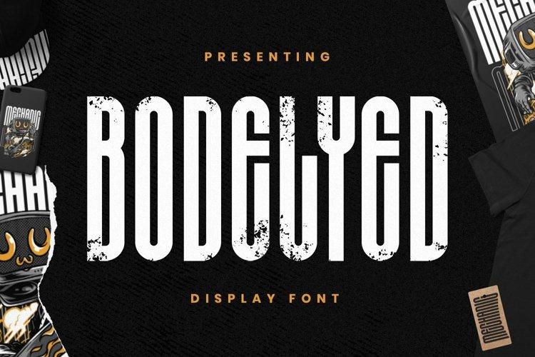 Web Font BODELYED - Display Font example image 1