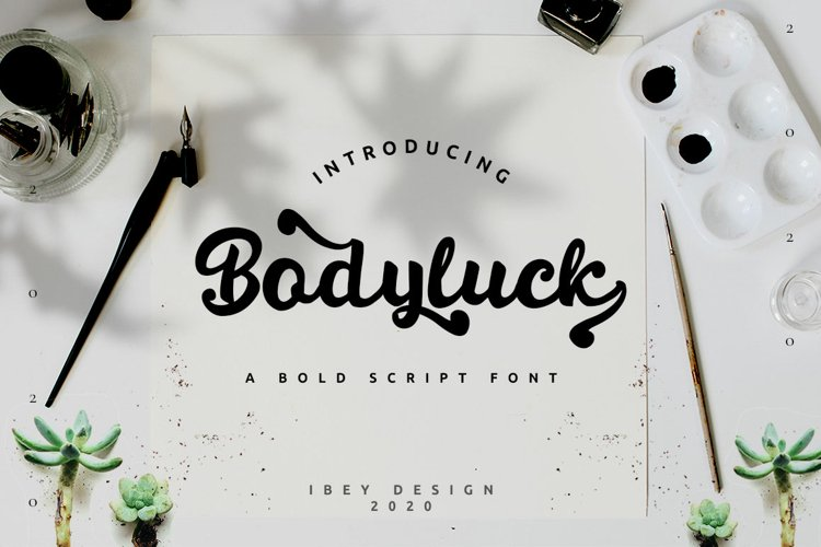 Bodyluck - Bold Script Font example image 1