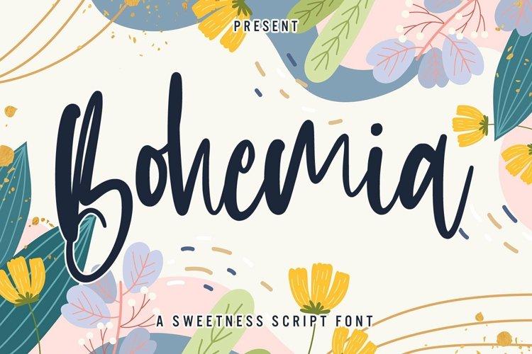 Web Font Bohemia - Sweet Script Font example image 1