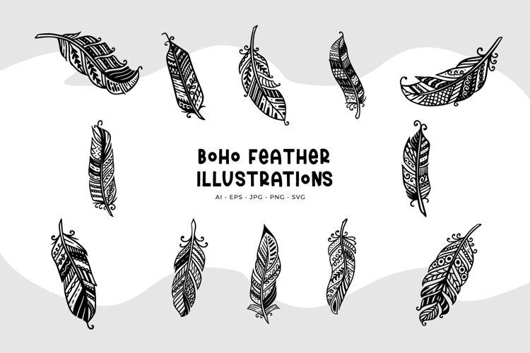 Boho Feather Illustrations