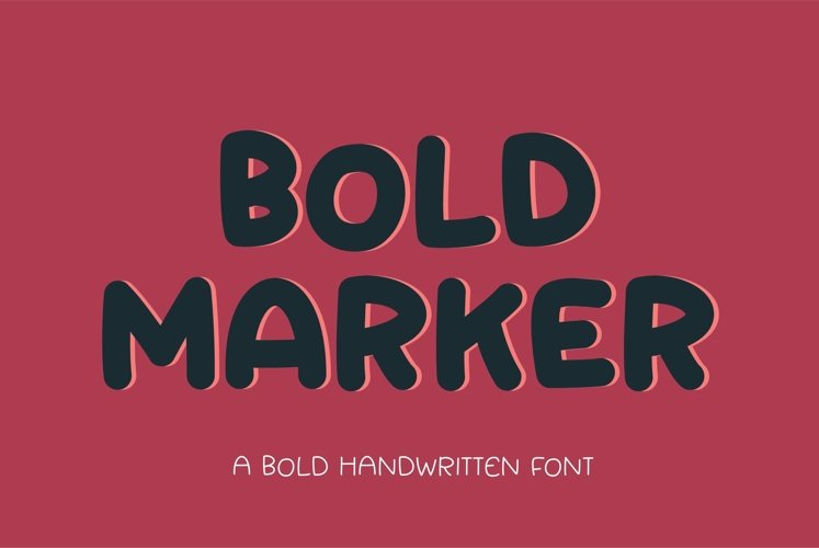 Web Font Bold Marker - a fun bold display font example image 1